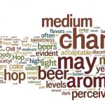 rappresentazione visiva delle parole pesate della descrizione degli stili della Brewers Association